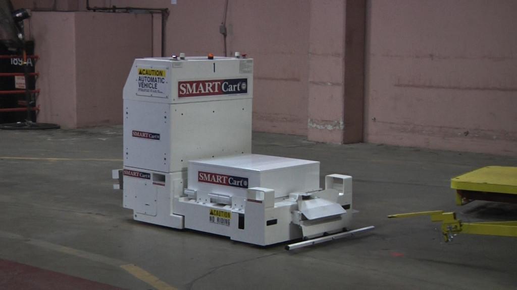 Daifuku webb smartcart 174 model 300 series automatic guided vehicles
