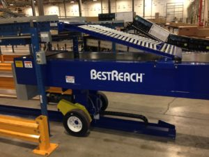 BestReach loading conveyor fully extended