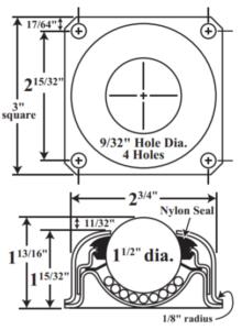 Flange Mount Ball Transfer Diagram